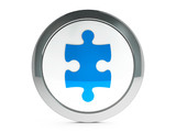 Puzzle piece icon with highlight