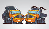 cartoon truck tipper. Character design
