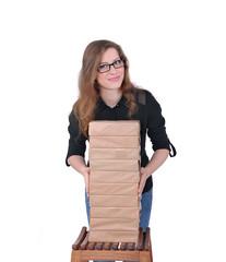 девушка и бумага, продажа