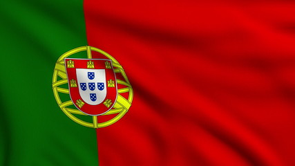 Flag of Portugal looping