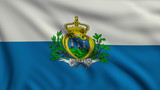 Flag of San Marino looping