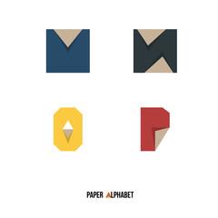 M N O P - Paper Alphabet