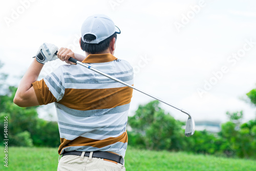 Active golf player