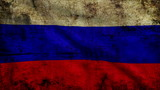 Old flag of Russia looping