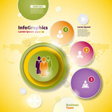 Abstract business design with paper circles for infographics