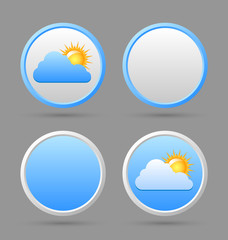 Weather icons and blank templates