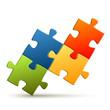 Puzzle - 4 Teile zusammengesetzt