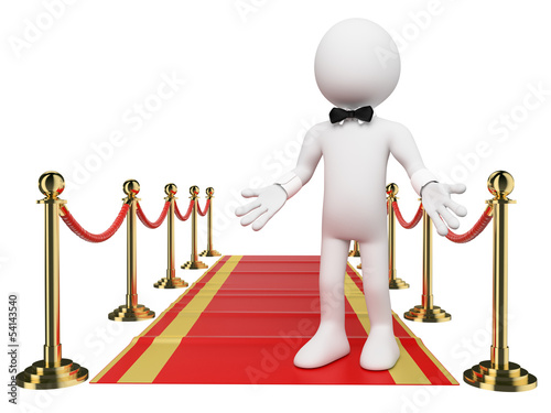 3D white people. Welcome to the Red Carpet