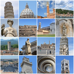 Buildings and statues in Italy