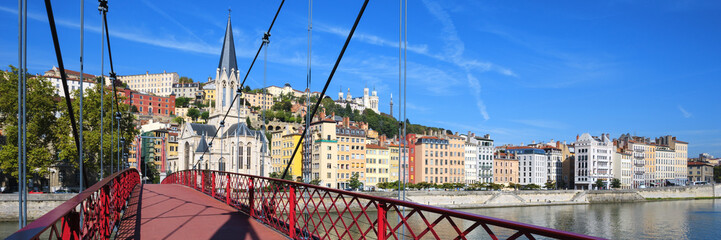 Panoramic view of Lyon city