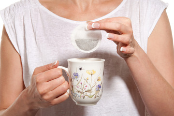 Woman with herbal tea