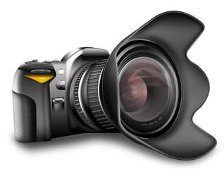 Digitale - Spiegelreflexkamera isoliert