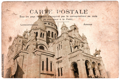Carte postale ancienne, Montmartre - Paris