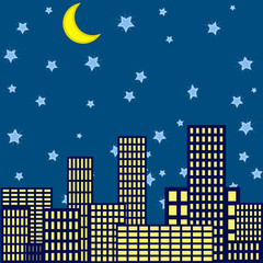 Night in the city background