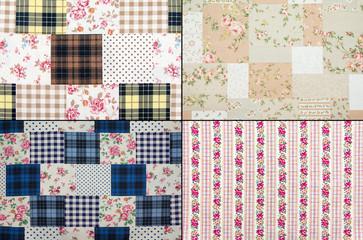 Fabric retro pattern