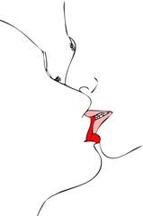 Simbolicamente un bacio