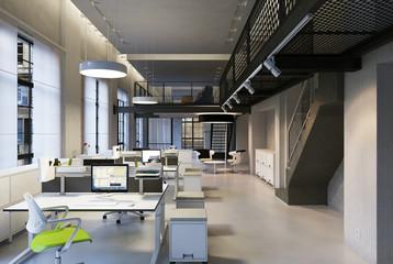 büro in loft gebäude - agency in downtown loft