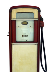 Isolation Of A Vintage Gas Station Pump