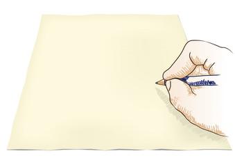 mano che disegna