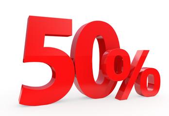 50 percent - discount