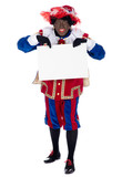Zwarte Piet with whiteboard