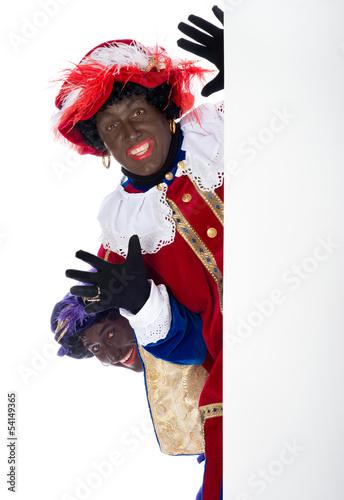Zwarte Piet with whiteboard Poster