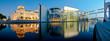 Leinwanddruck Bild - Berlin Panorama Reichstag and Reichstagufer