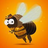 Honey bee drone poster