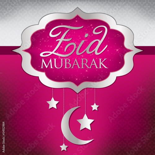 Eid Mubarak (Blessed Eid) mobile card