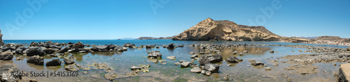 Creek in rising tide, panoramic