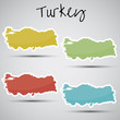 stickers in form of Turkey
