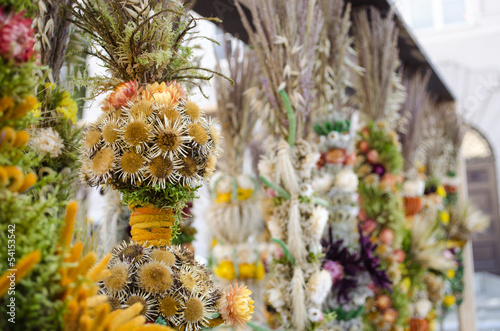 traditional easter decor handmade floral palm fair