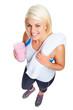 protein shake woman