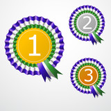 Award ribbon. Vector