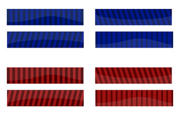 Striped design red and blue banners