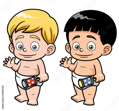 Vector illustration of Cartoon baby