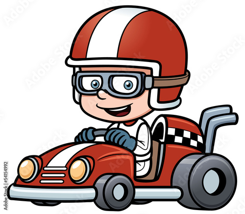 Vector illustration of Boy Racing