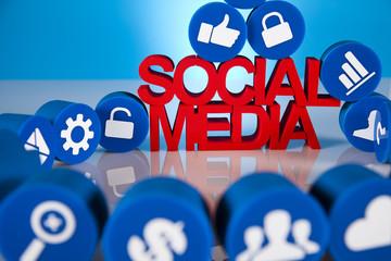 Internet concept, Social media icons set