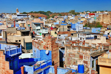 roofs of Jodhpur -blue city of India.