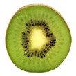 Green kiwi isolated on white background