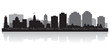 Halifax Canada city skyline vector silhouette