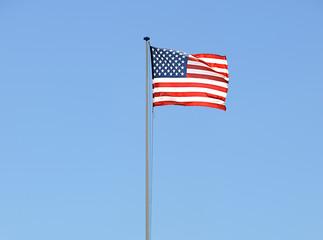 Bandiera USA sventolante