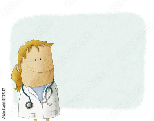 Cartoon Female doctor