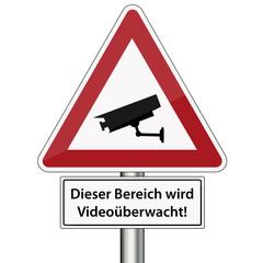 Warnschild Videoüberwachung