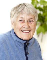 Active senior woman portrait