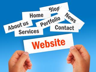 Website development process.