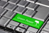 green power on a keyboard key