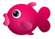 Cute fish pink