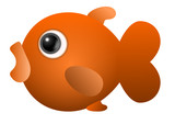 Cute fish orange