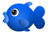 Cute fish blue